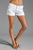 Image 1 of True Religion Jayde Boyfriend Shorts in Optic White