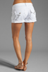 Image 3 of True Religion Jayde Boyfriend Shorts in Optic White