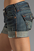 Image 5 of True Religion Jayde Boyfriend Shorts in Granite
