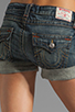 Image 6 of True Religion Jayde Boyfriend Shorts in Granite
