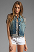 Image 1 of True Religion Leah Cut Off Vest in Point Dune