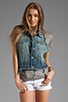 Image 2 of True Religion Leah Cut Off Vest in Point Dune