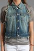 Image 4 of True Religion Leah Cut Off Vest in Point Dune