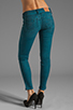 Image 3 of True Religion Casey Mid Rise Skinny in Peacock