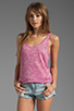 Image 1 of True Religion Burnout Relaxed Tank in Fuchsia