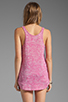 Image 2 of True Religion Burnout Relaxed Tank in Fuchsia