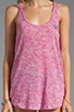 Image 3 of True Religion Burnout Relaxed Tank in Fuchsia