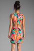 Image 4 of Trina Turk Biscayne Palm District Dress in Multi