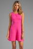 Image 1 of Trina Turk Tropical Ponte Nikola Tank Dress in Barbie Pink