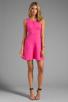 Image 2 of Trina Turk Tropical Ponte Nikola Tank Dress in Barbie Pink