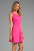 Image 3 of Trina Turk Tropical Ponte Nikola Tank Dress in Barbie Pink