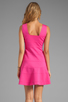 Image 4 of Trina Turk Tropical Ponte Nikola Tank Dress in Barbie Pink