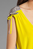 Image 6 of Twelfth Street By Cynthia Vincent Ashka Draw String Shift Dress in Citron with Grey Back
