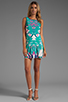 Image 2 of Twelfth Street By Cynthia Vincent Leeward Drop Waist Scoop Back Dress in Summer Leaf