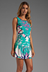 Image 3 of Twelfth Street By Cynthia Vincent Leeward Drop Waist Scoop Back Dress in Summer Leaf