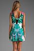 Image 4 of Twelfth Street By Cynthia Vincent Leeward Drop Waist Scoop Back Dress in Summer Leaf