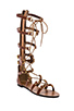 Image 2 of Twelfth Street By Cynthia Vincent Athena Lace Up Embossed Leather Gladiator Sandal in Cognac