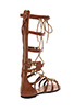 Image 4 of Twelfth Street By Cynthia Vincent Athena Lace Up Embossed Leather Gladiator Sandal in Cognac