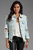 Image 1 of UNIF Outsider Denim Jacket in Blue