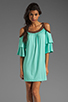 Image 1 of VAVA by Joy Han Piper Dress with Suede Trim in Mint