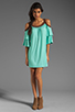 Image 2 of VAVA by Joy Han Piper Dress with Suede Trim in Mint