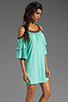 Image 3 of VAVA by Joy Han Piper Dress with Suede Trim in Mint