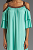 Image 5 of VAVA by Joy Han Piper Dress with Suede Trim in Mint