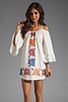 Image 1 of VAVA by Joy Han Anna Embroidered Dress in White