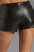 Image 6 of VEDA Lofi Leather Shorts in Black