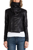 Image 5 of VEDA Max Classic Crispy Leather Jacket in Black