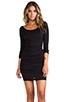 Image 1 of Velvet by Graham & Spencer Gauzy Whisper Jessamine Dress in Black