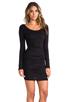 Image 3 of Velvet by Graham & Spencer Gauzy Whisper Jessamine Dress in Black