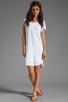Image 2 of Velvet by Graham & Spencer Dasha Sheer Jersey T Shirt Dress in White