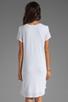 Image 4 of Velvet by Graham & Spencer Dasha Sheer Jersey T Shirt Dress in White