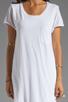 Image 5 of Velvet by Graham & Spencer Dasha Sheer Jersey T Shirt Dress in White