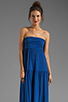 Image 1 of Velvet by Graham & Spencer Sheer Jersey Masha Maxi Dress in Blueberry