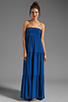 Image 2 of Velvet by Graham & Spencer Sheer Jersey Masha Maxi Dress in Blueberry