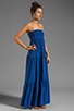 Image 3 of Velvet by Graham & Spencer Sheer Jersey Masha Maxi Dress in Blueberry