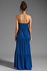 Image 4 of Velvet by Graham & Spencer Sheer Jersey Masha Maxi Dress in Blueberry