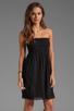 Image 1 of Velvet by Graham & Spencer Hayzelle Sheer Jersey Dress in Black