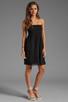 Image 2 of Velvet by Graham & Spencer Hayzelle Sheer Jersey Dress in Black