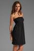 Image 3 of Velvet by Graham & Spencer Hayzelle Sheer Jersey Dress in Black
