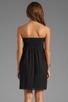 Image 4 of Velvet by Graham & Spencer Hayzelle Sheer Jersey Dress in Black