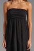 Image 5 of Velvet by Graham & Spencer Hayzelle Sheer Jersey Dress in Black