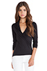 Image 1 of Velvet by Graham & Spencer Gauzy Whisper Classics Meri Wrap Top in Black