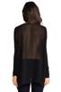 Image 3 of Velvet by Graham & Spencer Melange Drape Tempest Top in Black