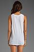 Image 2 of Velvet by Graham & Spencer Sheer Jersey Amily Tank in White