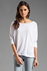 Image 2 of Velvet by Graham & Spencer Sheer Jersey Carden Top in White