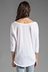 Image 3 of Velvet by Graham & Spencer Sheer Jersey Carden Top in White