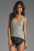 Image 1 of Velvet by Graham & Spencer Cambria Textured Knit Tank in Heather Grey